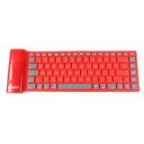 Mini prova portátil da água e teclado Foldable do rádio do silicone