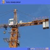 1.0t先端ロードQtz63-5610タワークレーンが付いている中国5tのタワークレーン56mのジブ