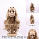 Neue Formbrown-lockige Perücke Remy weibliches synthetisches Haar