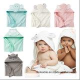 Tovagliolo del bambino del cotone ed insieme incappucciati lavorati a maglia del Washcloth