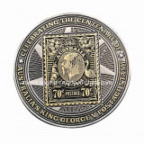 Монетка возможности сувенира изготовления с двойной отделкой Palting