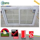 Окно удара UPVC сползая с конструкцией решетки
