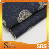 Джинсовая ткань жаккарда Spandex хлопка (SRSCSP 1801)