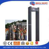 Pasar a través de detector de metales al contrabando en acontecimiento, estadios del detector