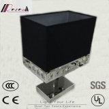 LED Negro Tela y lámpara de mesa de cristal