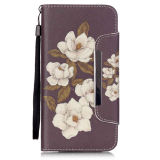 Begonia Flower Pu Leather Case Wallet Filp Cover voor iPhone6 6s