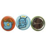 Hecho de la hojalata, el botón del estaño Badges varias tallas