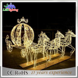2.o reno hermoso con la luz decorativa del adorno de la Navidad del trineo LED