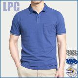 La fabbrica della Cina progetta la camicia per il cliente 100% di polo del cotone per gli uomini