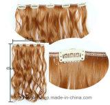 Nueva extensión del pelo rizado del pelo de la peluca de la cortina del pelo de cinco clips