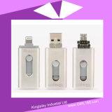 Movimentação personalizada da pena do USB para o presente da promoção