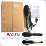 2016 Lately Items Brosse à cristaux liquides chauds Bienvenue OEM 75W Magical Nasv Hair Straightener Brush