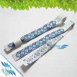 Wristband tecido VIP para o cliente com fechamento