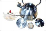 Chaleira dobro do assobio com jogo de chá cerâmico do Samovar do Teapot