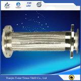 Boyau tressé de métal flexible de boyau d'acier inoxydable de matériau anti-calorique