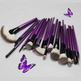 24PCS標準的な紫色の装飾的なツールの芸術家の専門の構成のブラシ