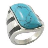 2015 venta al por mayor semipreciosa del anillo de la plata esterlina de la piedra 925 de la joyería de la manera