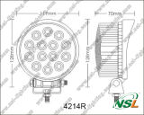 Preiswertes Arbeits-Licht des Preis-42W LED 4 Zoll-Waldmaschinen-Arbeitslicht