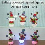 Presente de EVA do boneco de neve de Santa da iluminação do diodo emissor de luz