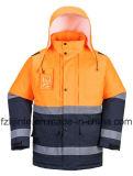 Куртка безопасности видимости отражательного Workwear людей зимы высокая