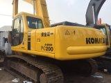 Excavatrice utilisée de KOMATSU PC200-6, bêcheurs utilisés, excavatrice utilisée 0086-13621636527 de chenille