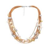 De Halsband van de Ketting van de parel, de Gouden Lange Halsband van de Parel van de Ketting, het Moderne Ontwerp van de Halsband van de Parel