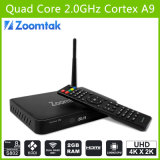 Mejor Android Quad Core Android TV Box 4k HD Media Player con Amlogics802, Soporte Bluetooth Dual Band WiFi Google Android TV Box