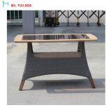 Conjunto de madera vendedor C-Caliente del vector de cena del PE de la teca al aire libre de la rota