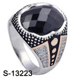 Garnet CZ Stone (S-13174R, S-13223, S-13162D, S-13189, S-13207)를 가진 새로운 Models 925 Silver Man Ring