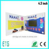 4.3 поздравительная открытка промотирования дела приглашения экрана дюйма HD/IPS LCD