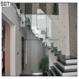 Pin Fixed Laminated Glass를 가진 상한 Modern Internal Staircase