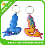 Promotion (SLF-KC013)のための習慣3D PVC Rubber Key Chain