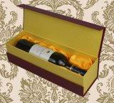 Роскошная коробка пакета бутылки вина типа шкафа картона, оптовые коробки вина картона, упаковывая коробки