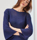 Dame Oversized Cotton Sweatershirt durch Knitting Design