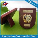 Trophée de plaque métallique et en bois fait sur commande pour la plaque de souvenir