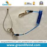 Горячей Tether стального провода весны сбывания прозрачной голубой свернутый спиралью спиралью