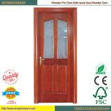 Porte en bois pleine en bois de fantaisie de porte de panneau plein bon de conception