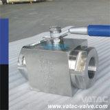 Valvola a sfera ad alta pressione d'acciaio forgiata di pressione idraulica per olio