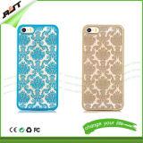 caso de la célula plástica de la flor retra de la corte del caso del iPhone/del teléfono móvil (RJT-0141)