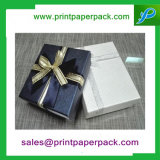 Изготовленный на заказ бумажные коробки подарка ювелирных изделий серьги кольца квадрата картона