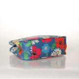 Bolsos florales retros impermeables de las mujeres de la lona del PVC (99181)