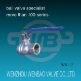 2-PC Female Threaded Carbon Steel Ball Valve 1000 PSI