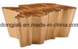 OEM ODMの金属の足によって強くされるガラス茶コーヒー端の側面表の製造所