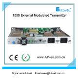 Transmisor óptico con el AGC, 1 transmisor del laser del transmisor 1550nm del laser del transmisor CATV de la señal de salida de la manera