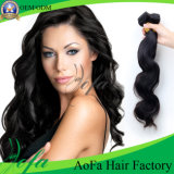 Prolongation brésilienne de cheveux humains de Remy de vague de cheveux d'Ombre