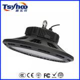 Nueva luz de la bahía del aluminio 100W 150W 200W 140lm/W LED del UFO del diseño alta