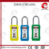 PVC札の安全長いボディ多彩なロックアウトパッドロック