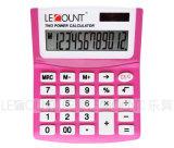 12 chiffres Calculatrice de bureau de taille moyenne à double alimentation (LC209)