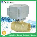 "2 válvula de esfera motorizada elétrica automática da válvula cortada da água polegada Dn20 da maneira 3/4 da """