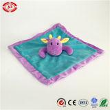 파란 바디 아기 텐더 세척 담요로 수를 놓는 자주색 헤드
